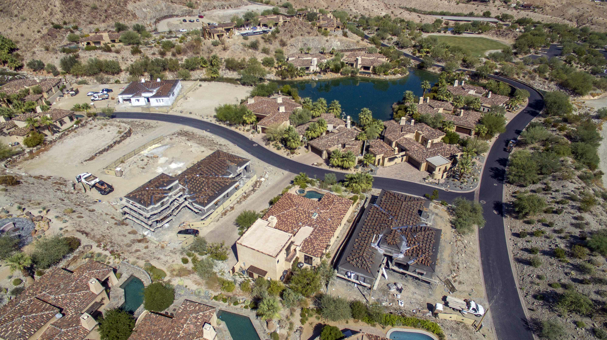 Aerial view of Stone Eagle Homes