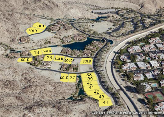 Aerial map of stone eagle lots